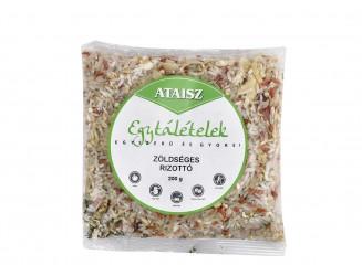 Zöldséges rizottó vegán egytálétel